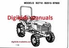 Thumbnail Kubota B2710 B2910 B7800 Tractor Operator Manual