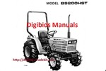 Thumbnail Kubota B9200 Hst  Operator Manual (Hi Quality)Download